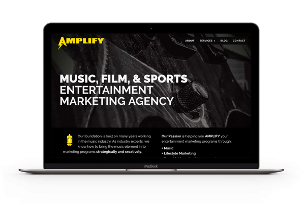 Pinpoint Digital - Website Development - Amplify Entertainment Marketing