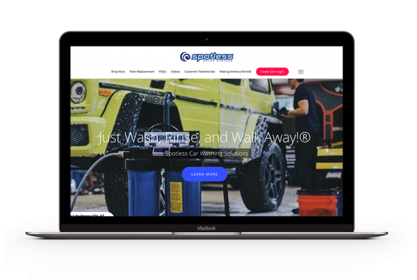 Pinpoint Digital - Website Development - CR Spotless Water Systems